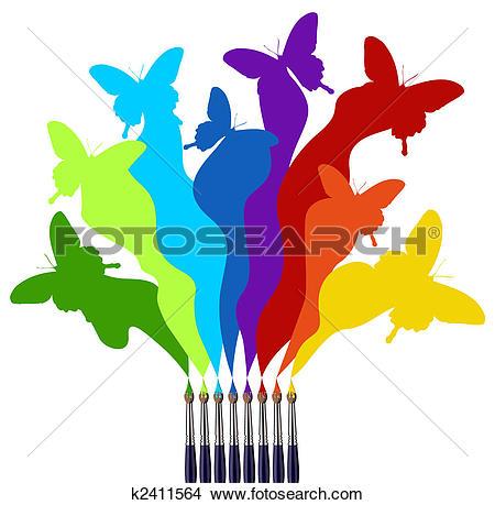 450x459 Color Clipart Paint Color