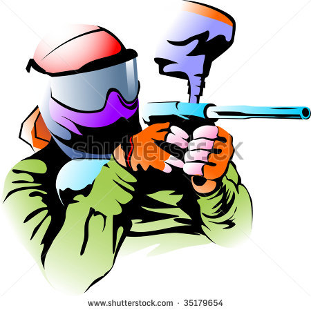450x449 Free Paintball Clipart