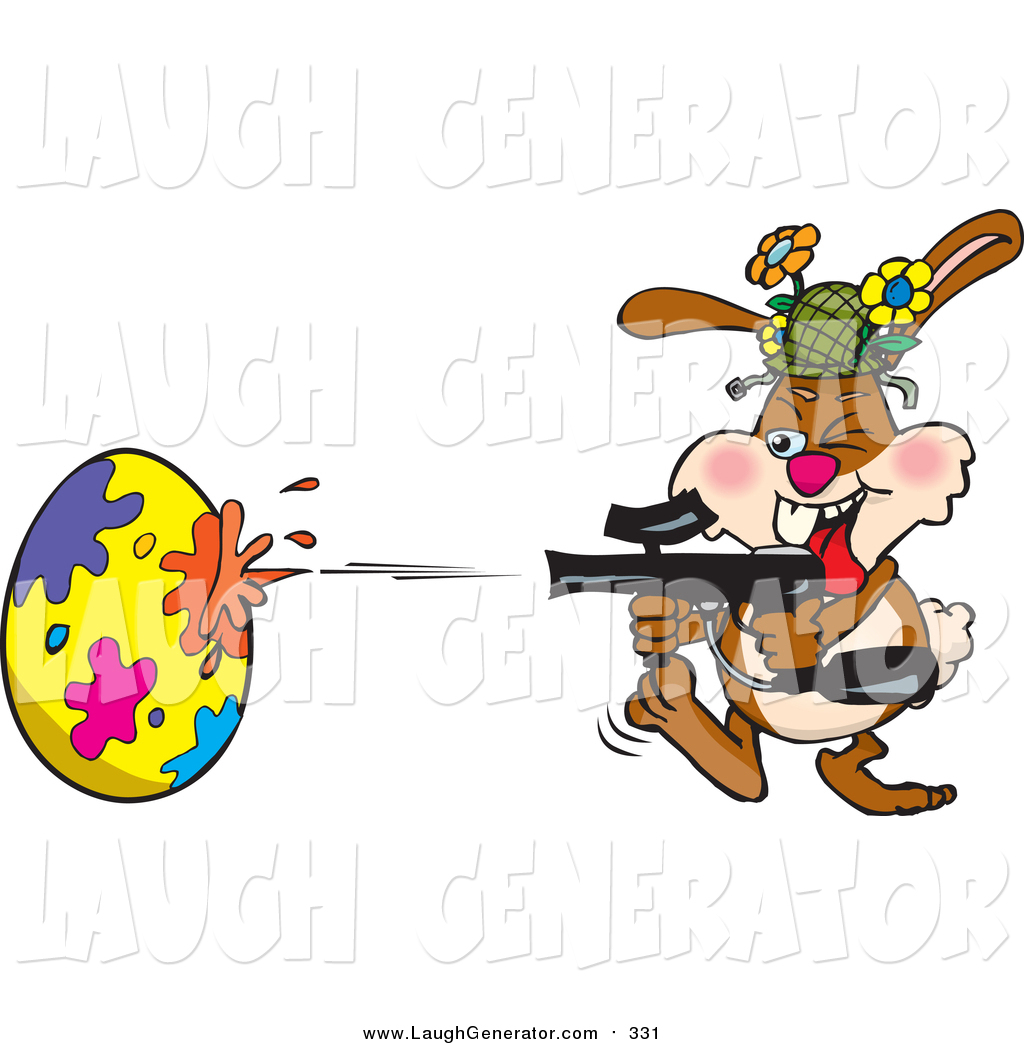 1024x1044 Humorous Clip Art Of A Rabbit Having A Blast While Decorating