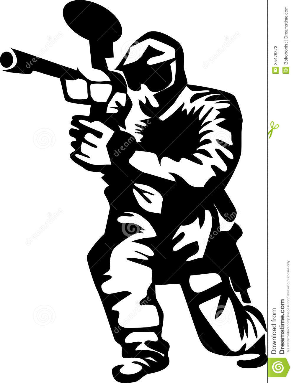 996x1300 Paintball Clip Art