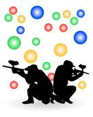 136x170 Paintball Clip Art