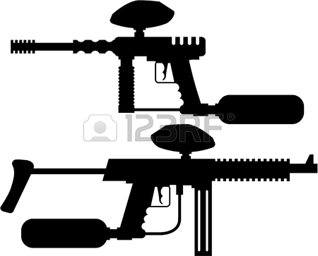 450x363 Paintball Gun Color Illustration Clip Art Simple Image Royalty