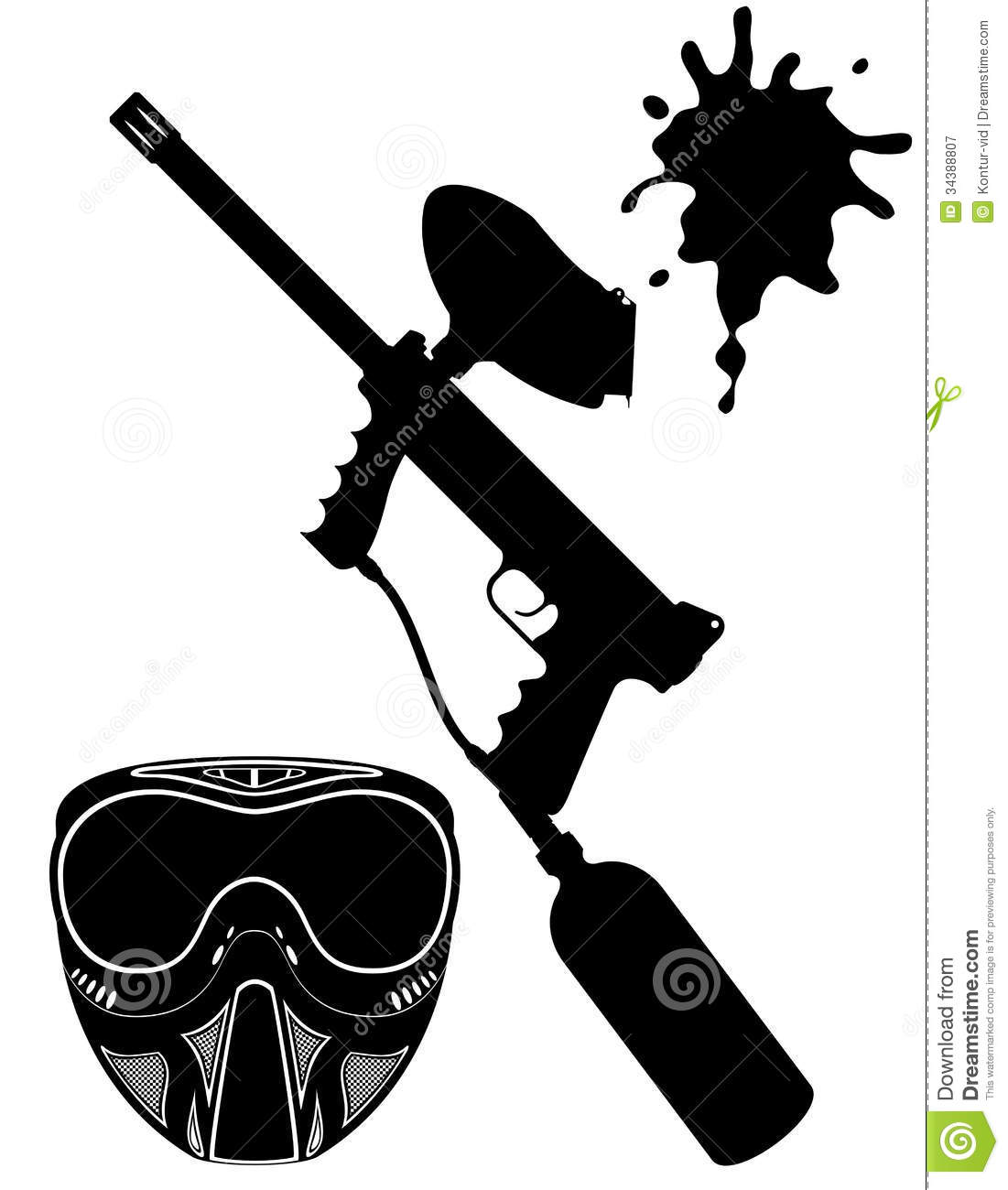 1101x1300 Paintball Vector Clipart