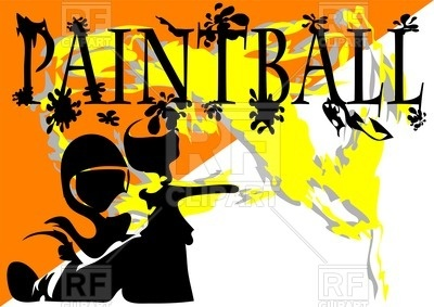 400x283 Paintball Abstract Background Royalty Free Vector Clip Art Image