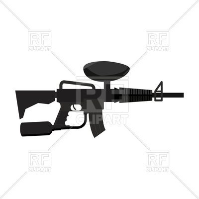 400x400 Paintball Gun Royalty Free Vector Clip Art Image