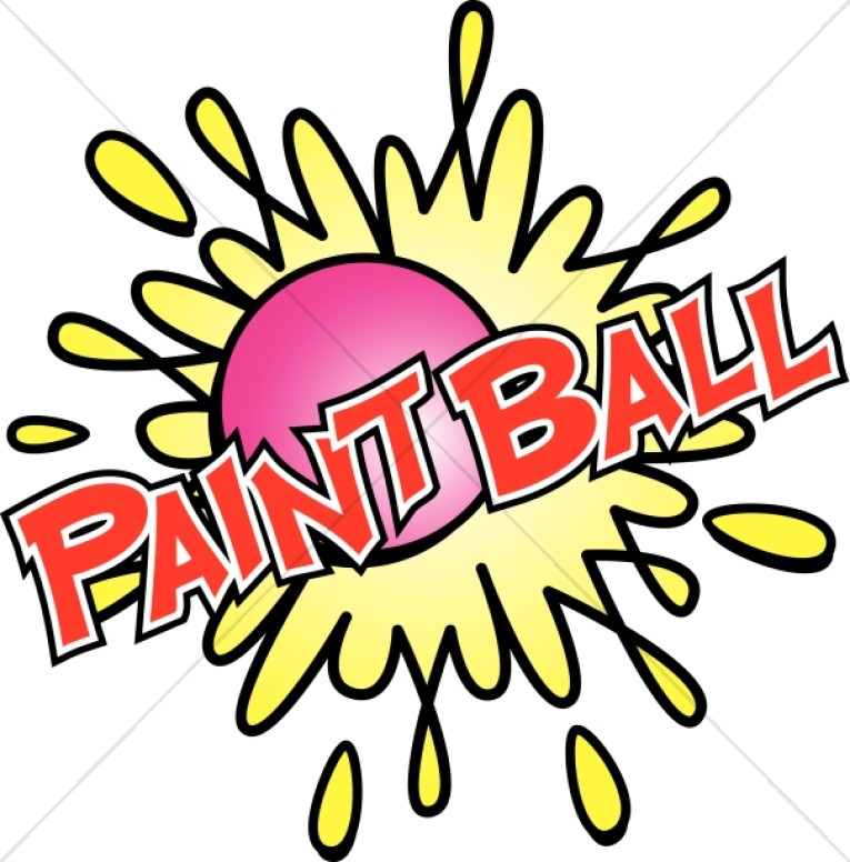 765x776 Paintball In Red With Bright Colors Youth Program Clipart