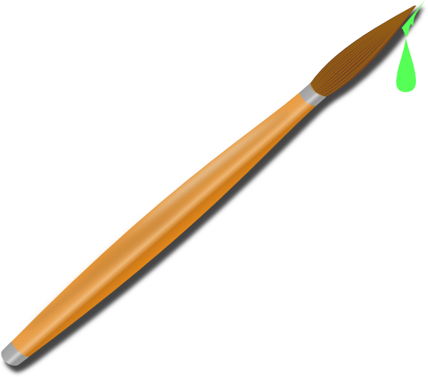 600x528 Green Paintbrush Clip Art