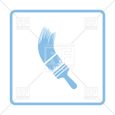 400x400 Paint Brush Blue Icon Royalty Free Vector Clip Art Image