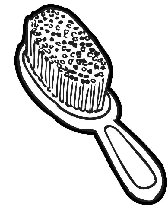 557x696 Hair Brush Black And White Clipart