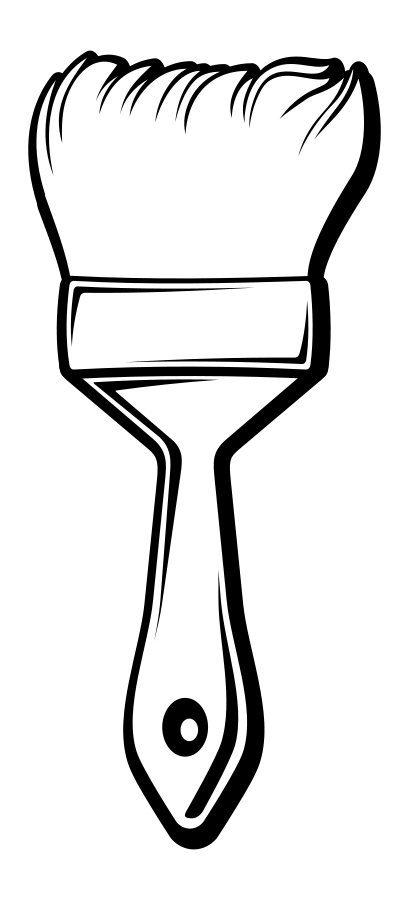 paintbrush clipart black and white free download best paintbrush