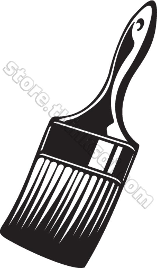 540x918 Brush Clip Art Black And White Cliparts