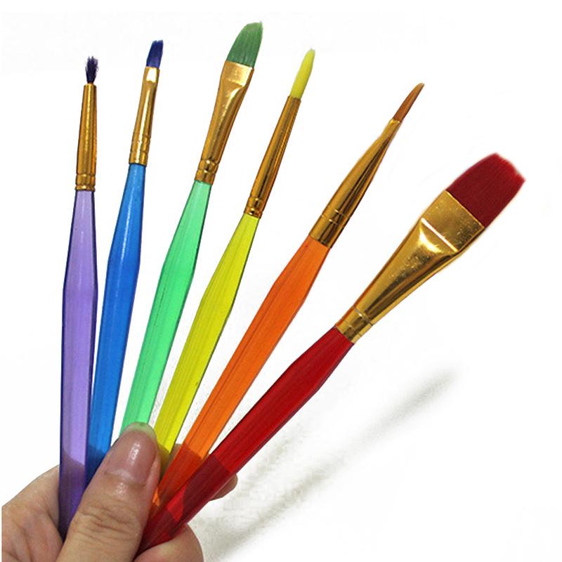 800x800 6pcsset Colorful Fondant Watercolor Paint Brush Set Drawing Art