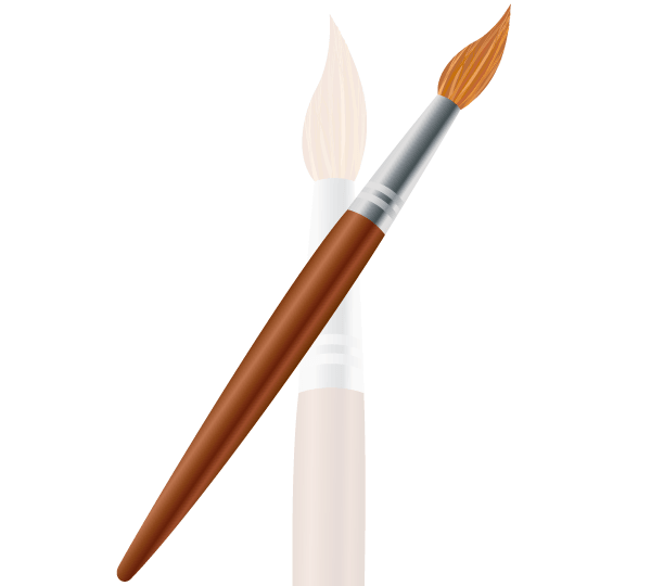 600x540 Paintbrush Drawing Clipart