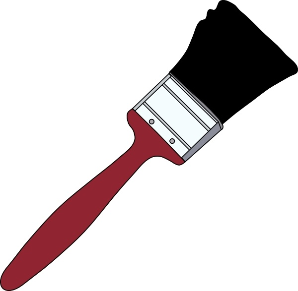 600x587 Tom Red Paintbrush Clip Art Free Vector In Open Office Drawing Svg
