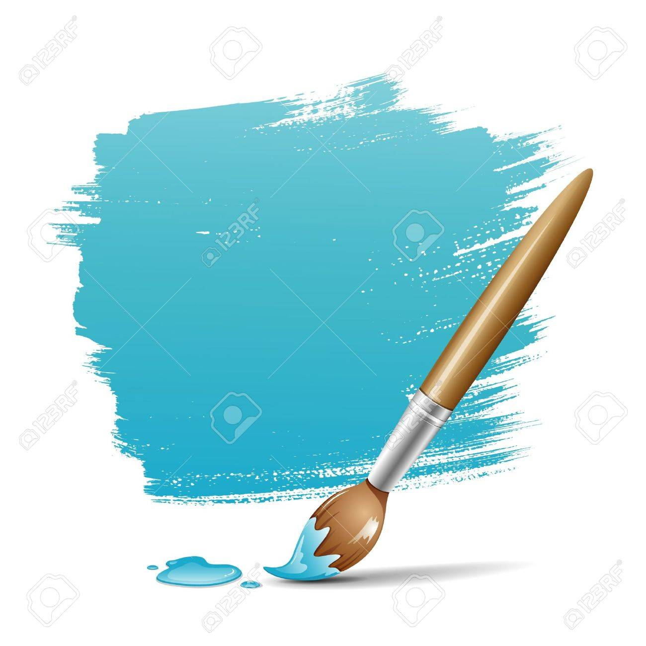 1300x1300 Paint Brush Blue Space Your Text Design, Vector Illustration