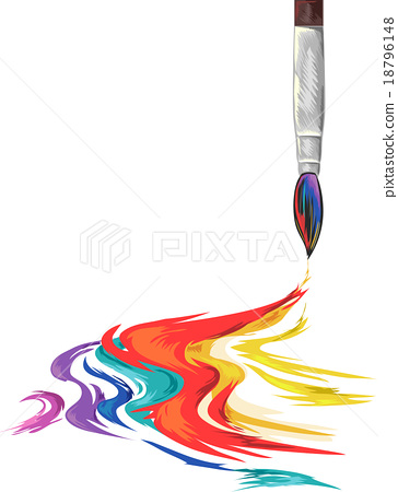 364x450 Paintbrush Rainbow Ink