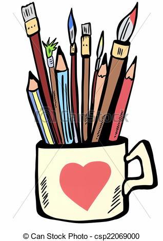 318x470 Pencil Clipart Paintbrush