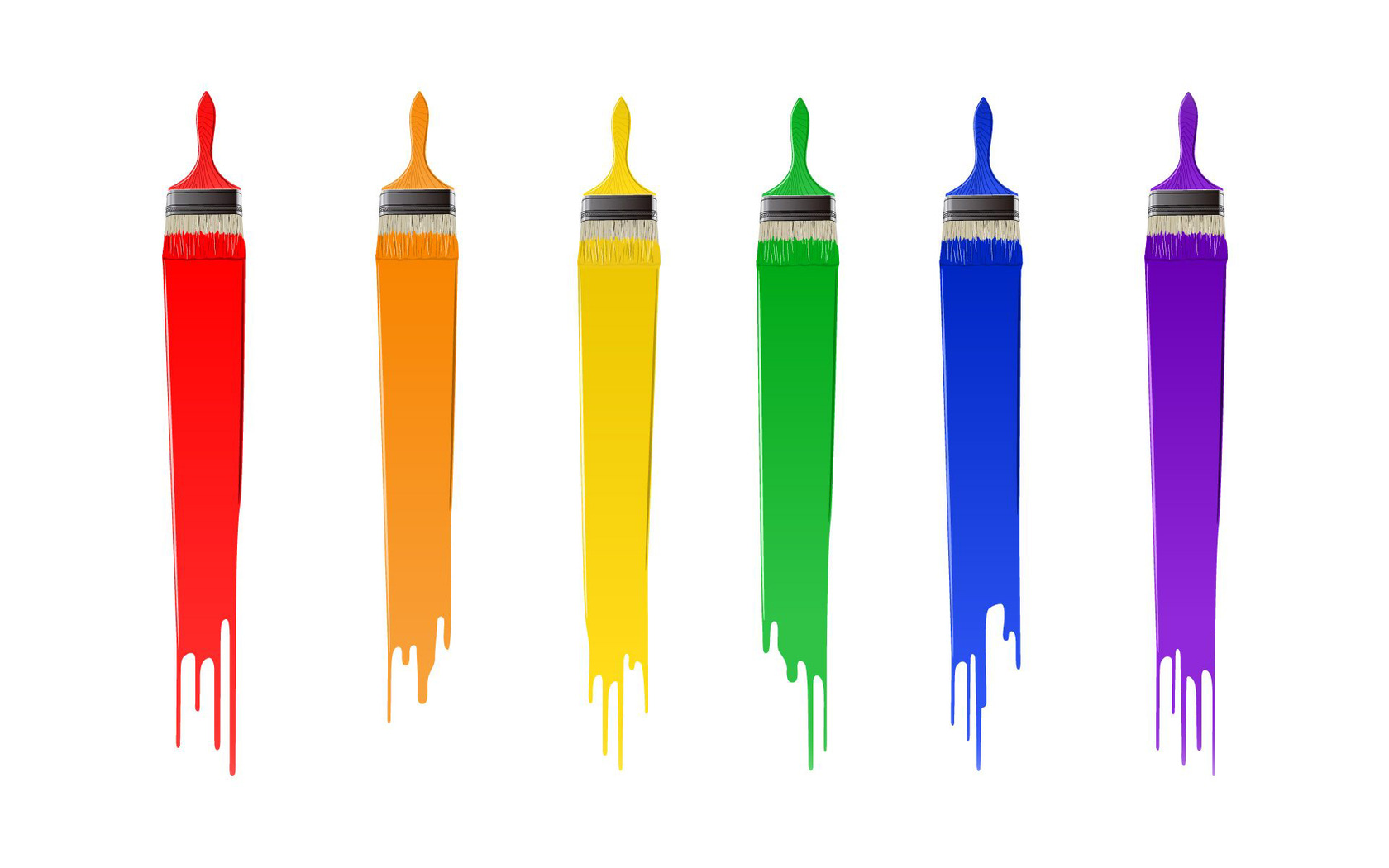 1680x1050 Free Paintbrush And Paint Clipart Image