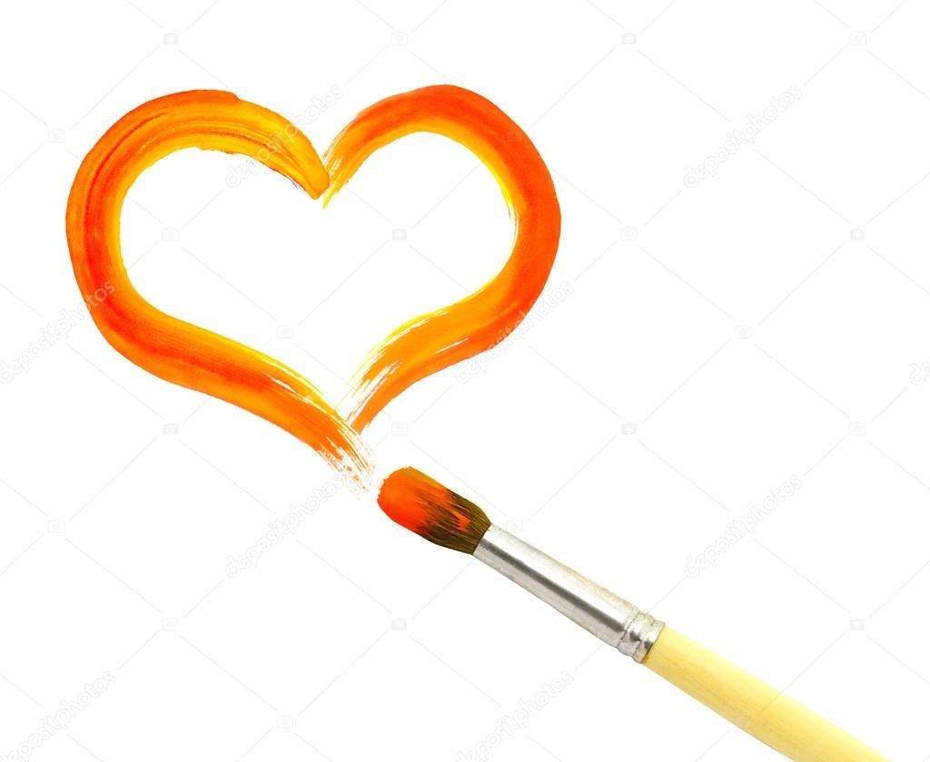 1024x840 Heart And Paintbrush Stock Photo Kardash
