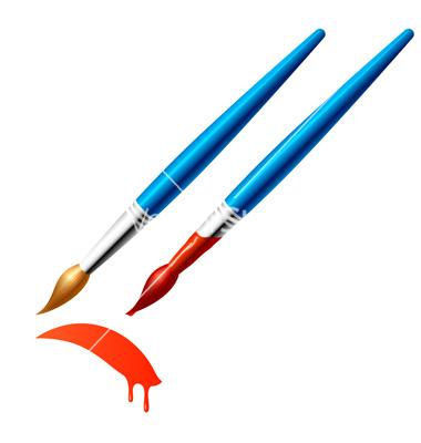 380x400 Artist Paint Brush Clipart