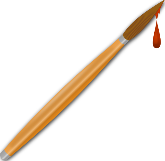 570x558 Paintbrush Paint Brush Logo Clipart Free To Use Clip Art Resource