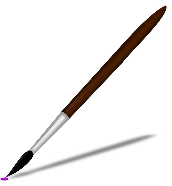 594x640 Free Paintbrush And Paint Clipart Image