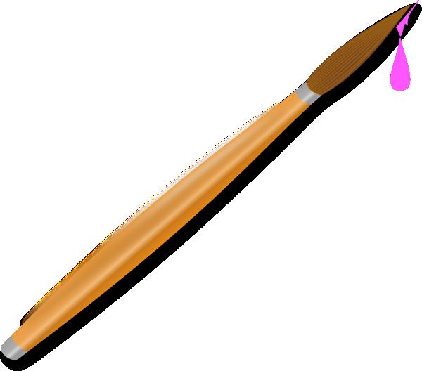 600x528 Pink Paintbrush Png, Svg Clip Art For Web