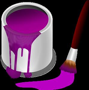 297x300 Purple Paint With Paint Brush Png, Svg Clip Art For Web