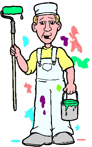310x495 Free Clipart House Painter