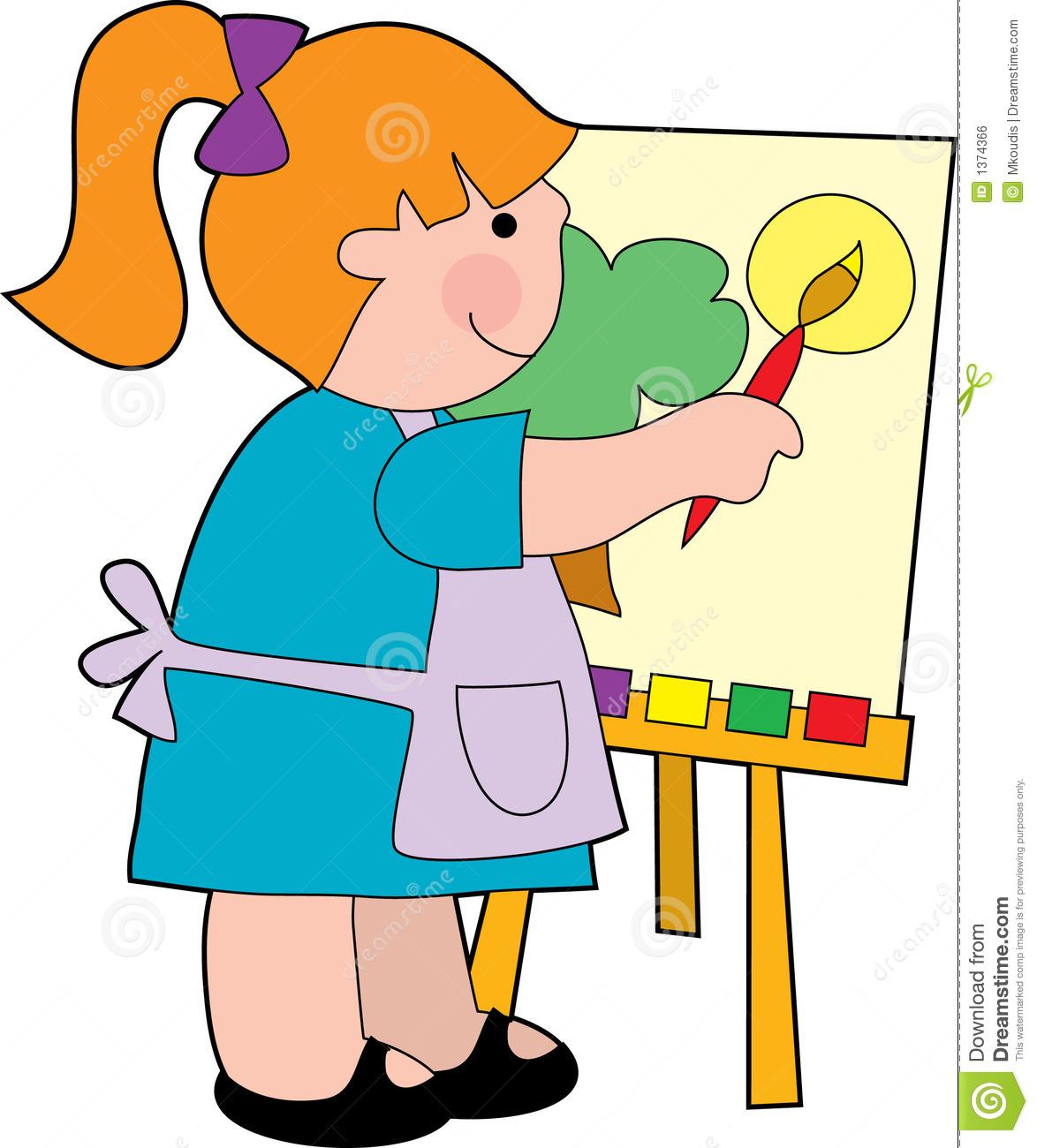1174x1300 Girl Clipart Painter