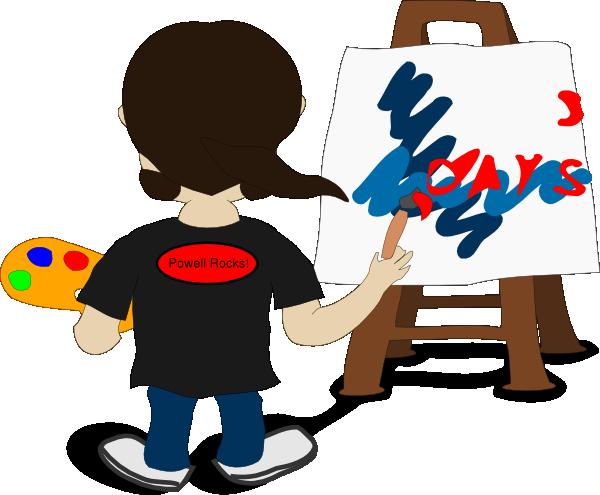 600x495 Artist Painting Hamill Clip Art