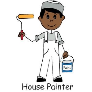 300x300 House Painter Clipart