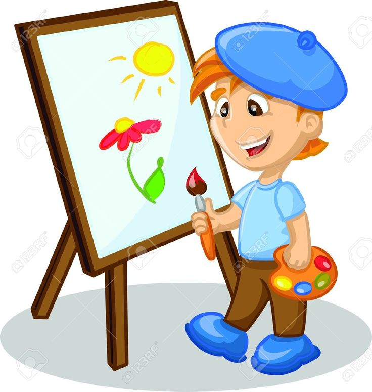 736x775 Painting Clipart Boy Painting