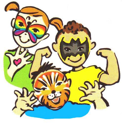 495x497 Face Painting Clip Art