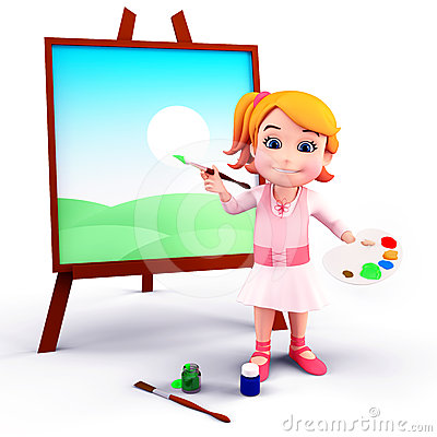 400x400 Girl Painting Clipart Collection