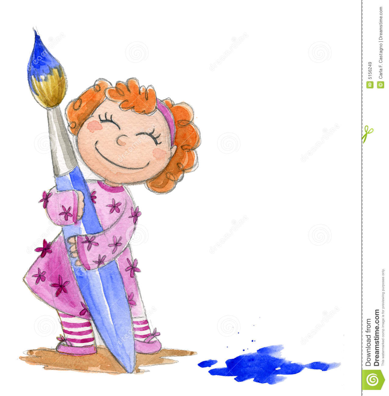 1275x1300 A Girl Painting A Picture Clipart