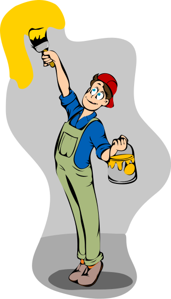 343x600 Paint Clipart Wall Painting