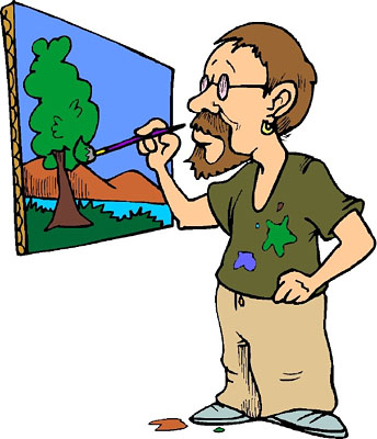 344x400 Painting A Mural Clip Art Cliparts