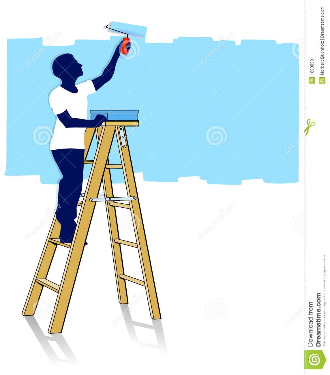 1144x1300 Painting Clipart Ladder