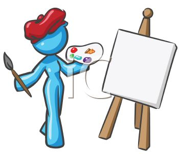 350x300 Painting Clipart Paint Board
