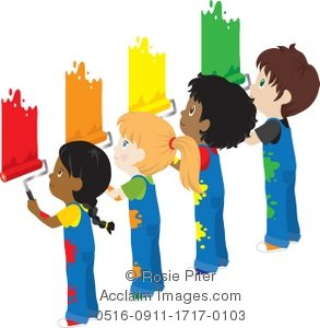 293x300 Children Painting A Wall Clipart Amp Stock Photography Acclaim Images