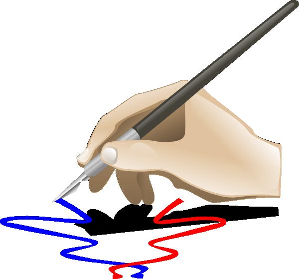 600x559 Hand Painting Clip Art