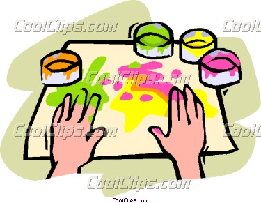375x291 Paint Clipart Finger Painting