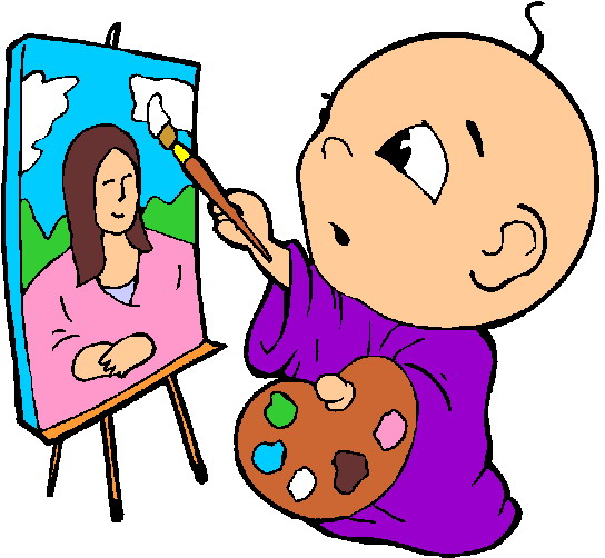 544x502 Painting Clipart Artistic