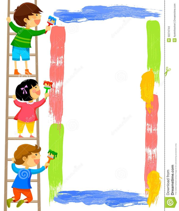 736x865 Painting Clipart Kid Painting