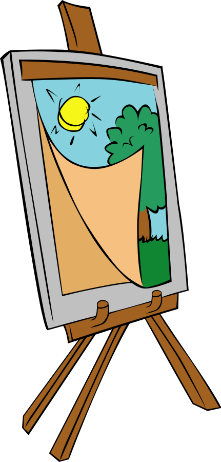 431x900 Children Painting Clip Art Co Image