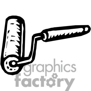 300x300 Clip Art Black And White Paint Roller Clipart
