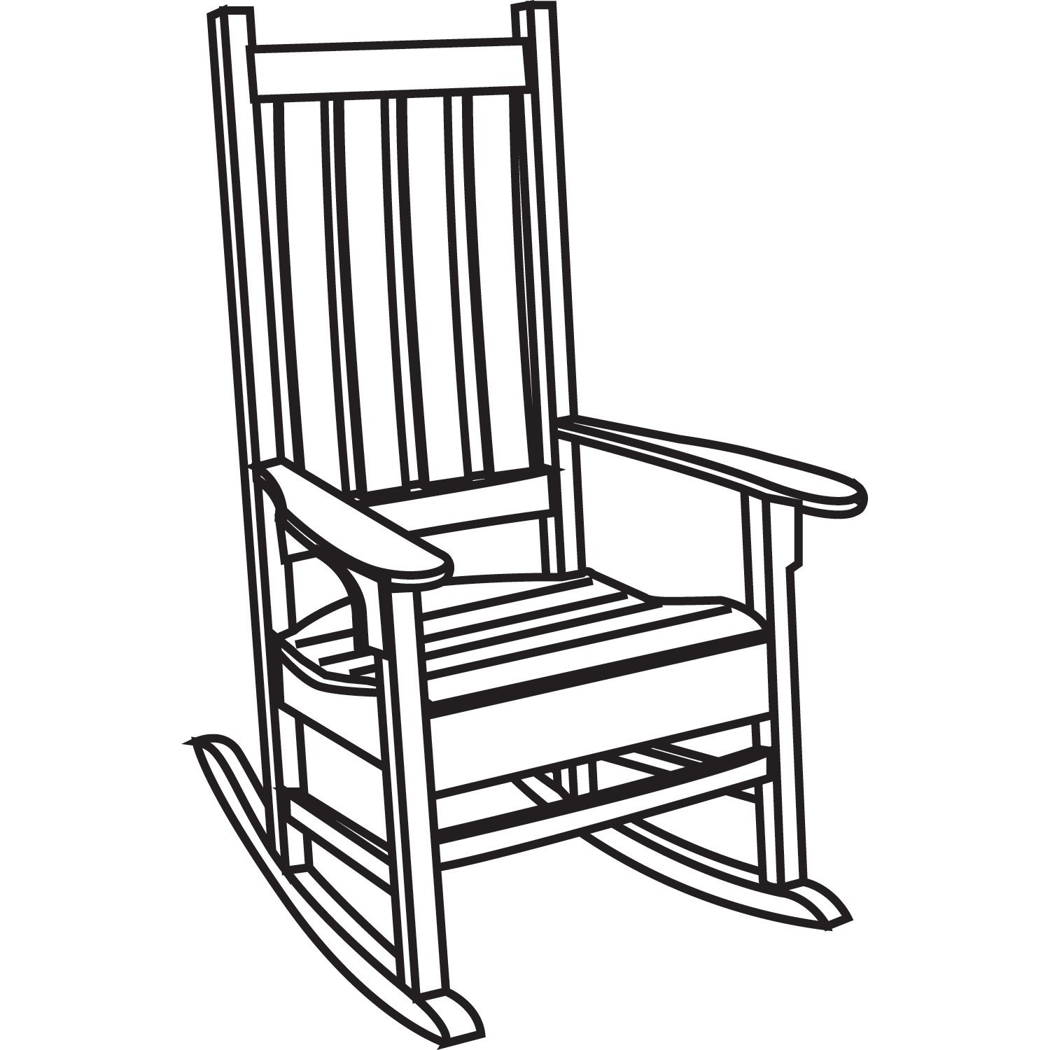 1500x1500 Furniture Delightful Chairs Clipart Black And White Chair Clip