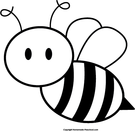 442x428 Honey Bee Black And White Clipart
