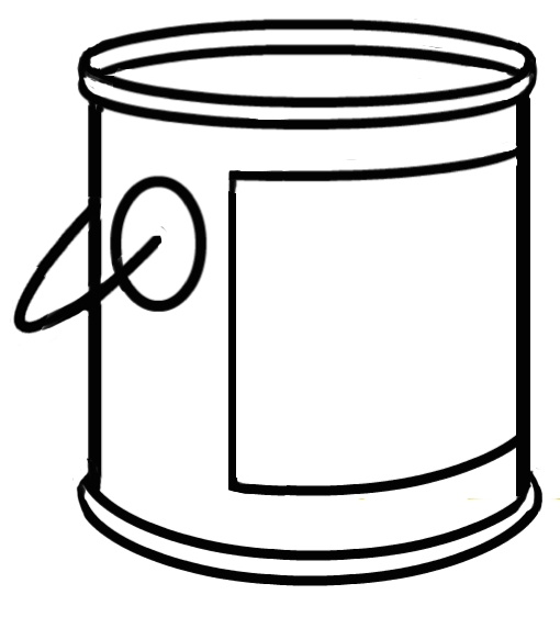 510x562 Paint Bucket Clipart Black And White Letters Example